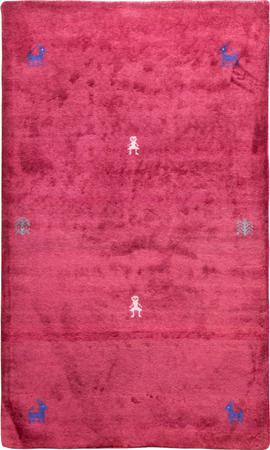 """Hand Knotted Iran Gabbeh 3' x 4'10"""" Red Rug"""