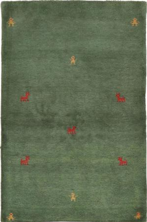 """Hand Knotted Iran Gabbeh 3' x 4'11"""" Gray DK Rug"""