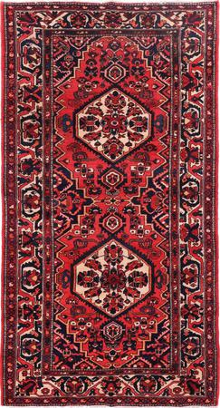 "Hand Knotted Iran Bakhtiari 5'7"" x 10'3"" Red LT Rug"