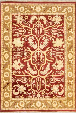 """Hand Made India Mahal 10' x 14'8"""" Red DK Rug"""