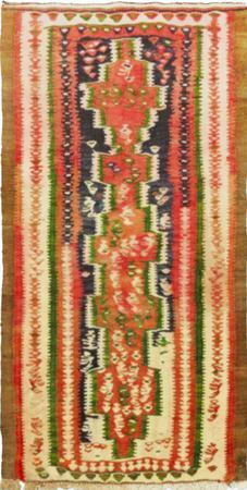 "Hand Knotted Iran Kilim 2'8"" x 4'4"" Orange LT Rug"