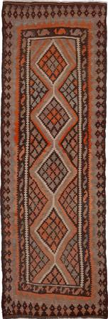"Hand Knotted Iran Kilim 4'2"" x 11'5"" Beige Rug"