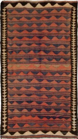 """Hand Knotted Iran Kilim 3'10"""" x 6' Orange Rug"""