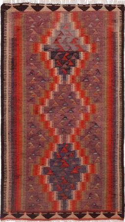 """Hand Knotted Iran Kilim 4'6"""" x 7'5"""" Orange Rug"""