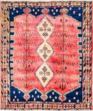 "Hand Knotted Iran Sirjan 5'7"" x 6'7"" Red LT Rug"