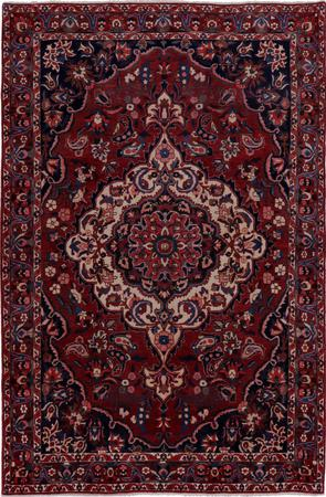 """Hand Knotted Iran Bakhtiari 6'8"""" x 10'3"""" Red DK Rug"""