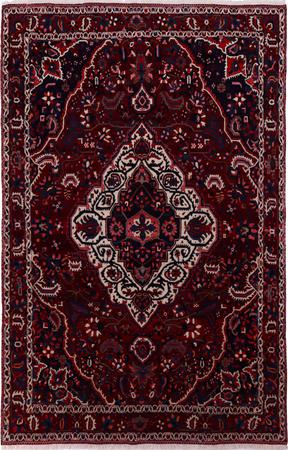 """Hand Knotted Iran Bakhtiari 6'8"""" x 10'4"""" Red DK Rug"""