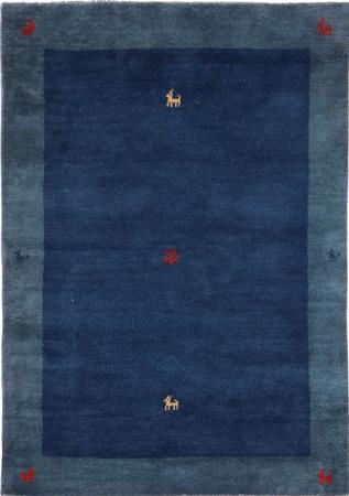 "Hand Knotted Iran Gabbeh 4'7"" x 6'5"" Blue LT Rug"