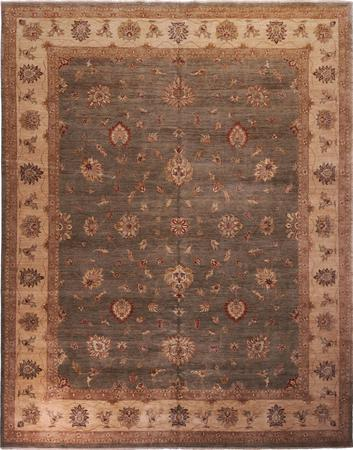 """Hand Made India Sultanabad 12' x 15'3"""" Green DK Rug"""