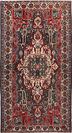 """Hand Knotted Iran Bakhtiari 5'5"""" x 9'9"""" Red DK Rug"""