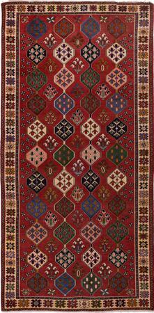 "Hand Knotted Iran Bakhtiari 4'9"" x 9'11"" Orange Rug"