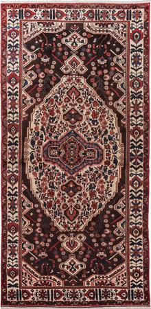 "Hand Knotted Iran Bakhtiari 5' x 9'9"" Ivory Rug"