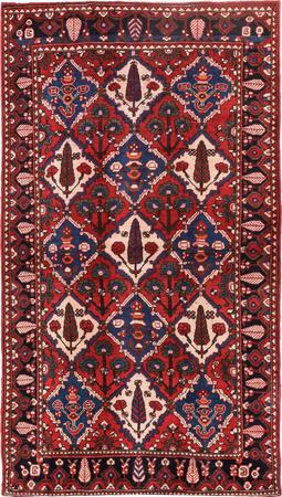 """Hand Knotted Iran Bakhtiari 5'5"""" x 9'6"""" Red DK Rug"""