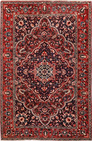 """Hand Knotted Iran Bakhtiari 6'8"""" x 10'6"""" Red DK Rug"""