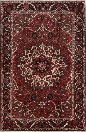 """Hand Knotted Iran Bakhtiari 6'11"""" x 10' Red DK Rug"""