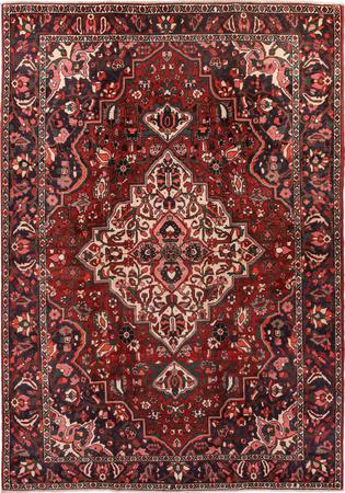 """Hand Knotted Iran Bakhtiari 7' x 9'9"""" Red DK Rug"""