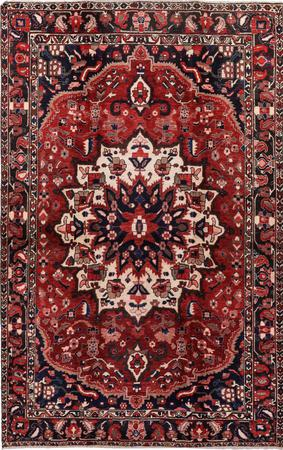 """Hand Knotted Iran Bakhtiari 5'4"""" x 8'5"""" Red DK Rug"""