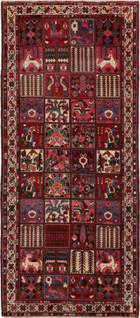 "Hand Knotted Iran Bakhtiari 4' x 9'6"" Multi Rug"