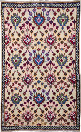 "Hand Knotted Iran Tabriz 2'11"" x 4'8"" Ivory Rug"