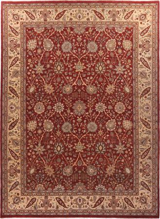"""Hand Made Pakistan Sultanabad 9'2"""" x 12'4"""" Red Rug"""