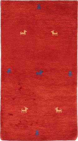 "Hand Knotted Iran Gabbeh 2'9"" x 5' Red Rug"
