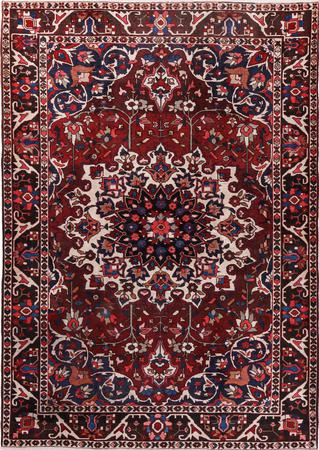 """Hand Knotted Iran Bakhtiari 6'9"""" x 10' Red DK Rug"""