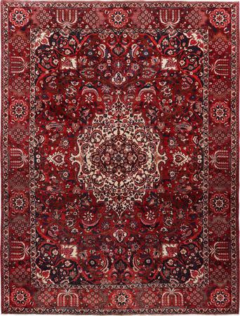 """Hand Knotted Iran Bakhtiari 9'10"""" x 13'3"""" Red DK Rug"""