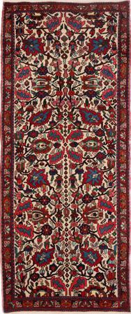 "Hand Knotted Iran Bakhtiari 3'5"" x 8'5"" Ivory Rug"