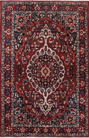 """Hand Knotted Iran Bakhtiari 6'10"""" x 10'3"""" Red DK Rug"""