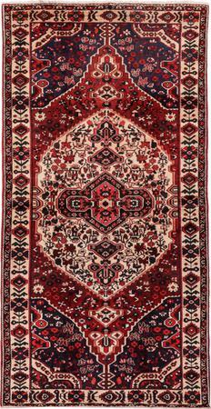 "Hand Made Iran Bakhtiari 5'3"" x 10' Orange Rug"