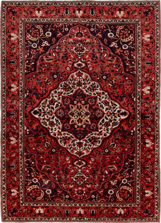 """Hand Knotted Iran Bakhtiari 8'11"""" x 13' Red DK Rug"""
