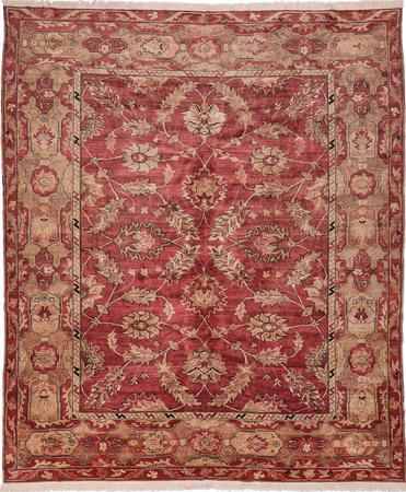 """Hand Made Egypt Sultanabad 10' x 11'8"""" Red Rug"""
