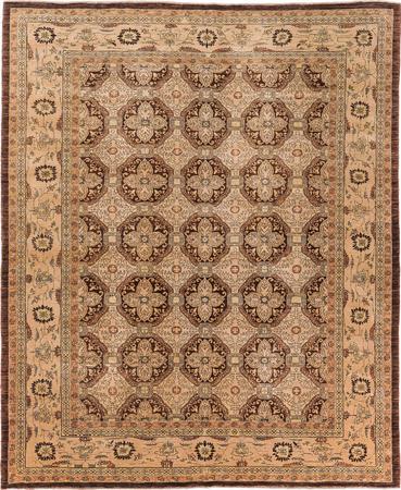 Hand Made Pakistan Sultanabad 8' x 10' Brown Rug