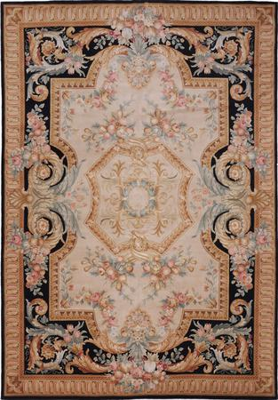Hand Made China Savonnerie 10' x 14' Gray LT Rug