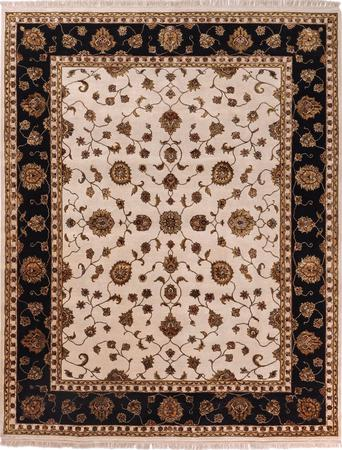 """Hand Knotted India Sultanabad 8' x 10'3"""" White Rug"""