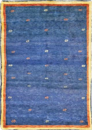 "Hand Knotted Iran Gabbeh 3'10"" x 5'6"" Blue Rug"