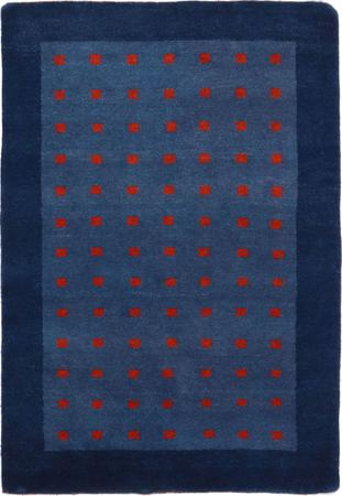 "Hand Knotted Iran Gabbeh 4' x 5'10"" Blue Rug"