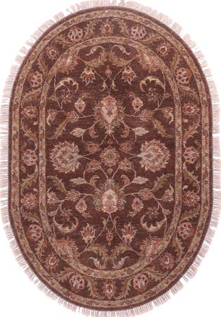 Hand Made India Mahal 4' x 6' Brown Rug