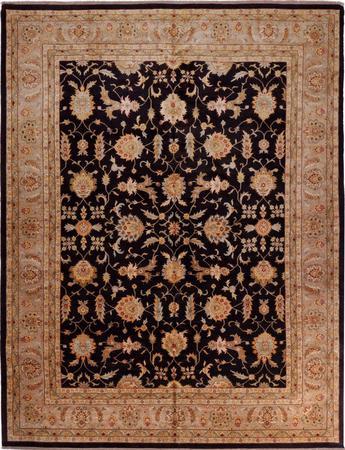 "Hand Made China Sultanabad 12' x 15'4"" Black Rug"