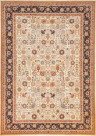 "Hand Made Afghanistan Nooristan 10' x 13'10"" Ivory Rug"