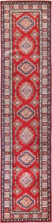 "Hand Made Afghanistan Super Kazak 2'6"" x 10'8"" Red Rug"