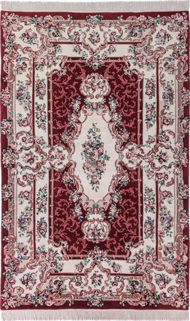 "Hand Made China Aubusson 6'6"" x 8'5"" Red Rug"