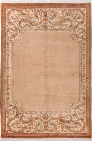 "Hand Made China Aubusson 5'6"" x 7'9"" Pink Rug"