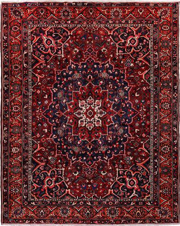 """Hand Knotted Iran Bakhtiari 10'6"""" x 12' Red Rug"""