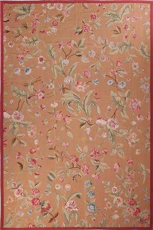 Flat Weave China Aubusson 12' x 18' Yellow Rug