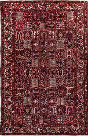 "Hand Knotted Iran Bakhtiari 10' x 15'7"" Multi Rug"