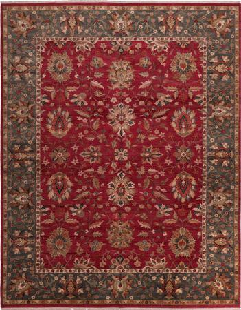 """Hand Made India Kashan 11'11"""" x 14'11"""" Red Rug"""