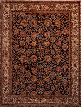 """Hand Made India Sultanabad 12' x 15'7"""" Blue DK Rug"""