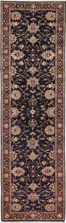 """Hand Made India Floral 2'8"""" x 9'9"""" Blue Rug"""