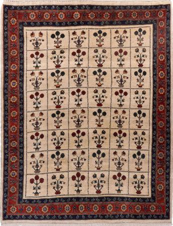 """Hand Knotted Iran Gabbeh 5'10"""" x 7'6"""" Beige Rug"""